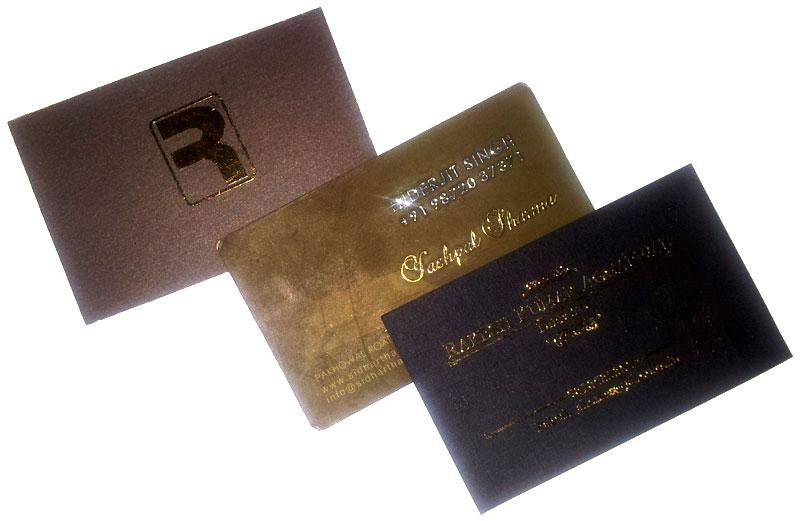 Wooden business card with gold metal sticker jai gangeya metallic sticker visiting card on paper colourmoves