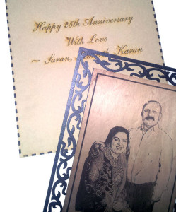 Laser Engraved Photo Frame