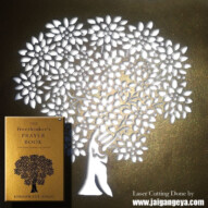 "Laser Cutting on ""The Freethinker's Prayer Book"" by Khushwant Singh"